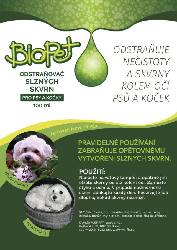 BioPet odstraňovač slzných škvŕn