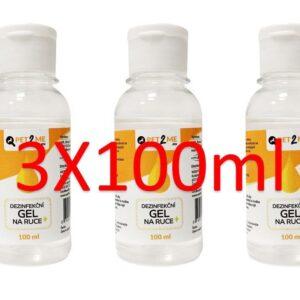 Pet2me Dezinfekční čistící gel na ruce