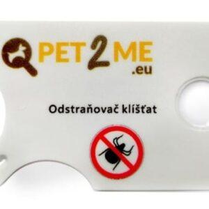 Odstraňovač klíšťat Pet2Me s lupou